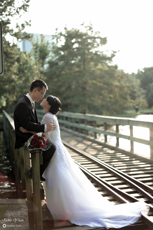 Hermann Park Wedding Photo Jackie Yuan Playshoot Studio