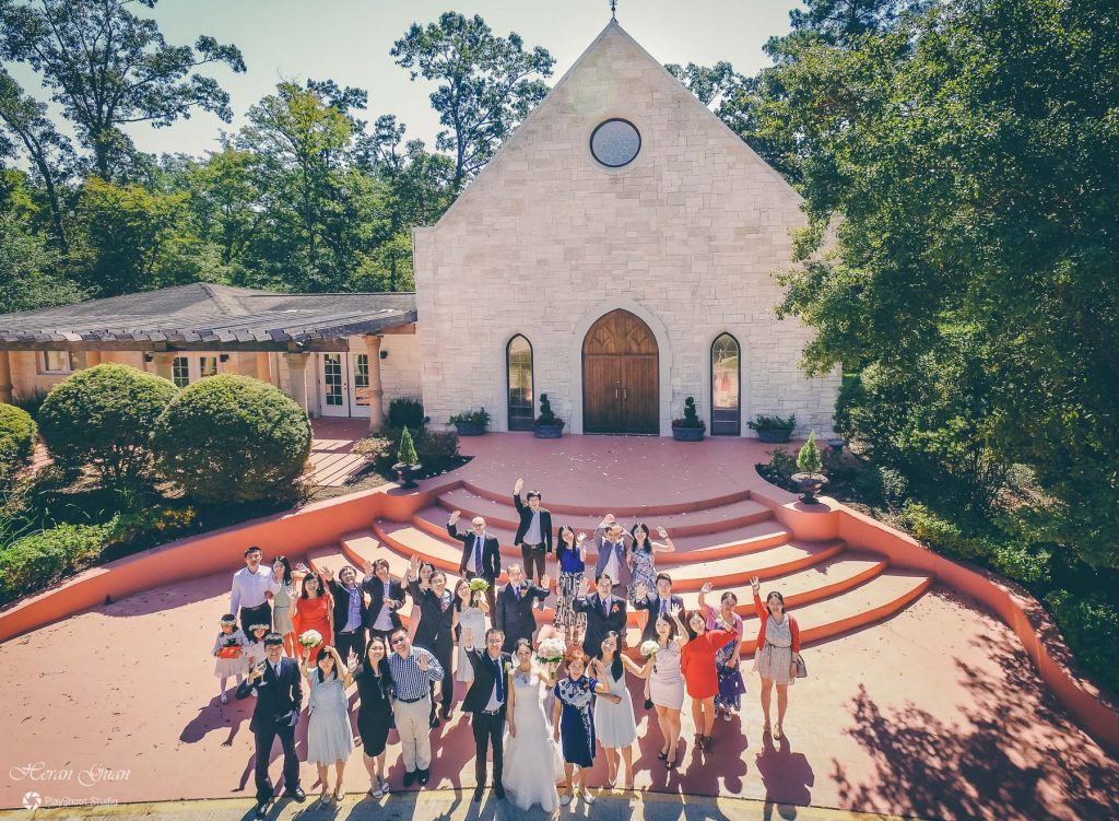 Houston Drone Wedding Photography - PlayShoot Studio