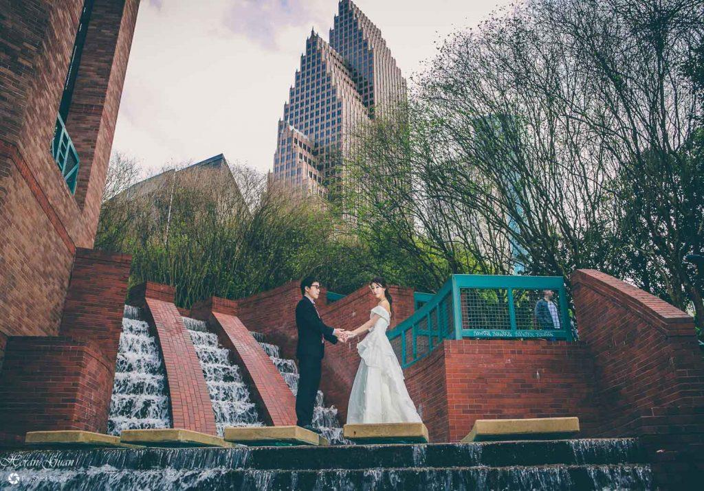 Downtown Houston Engagement Photos - PlayShoot Studio