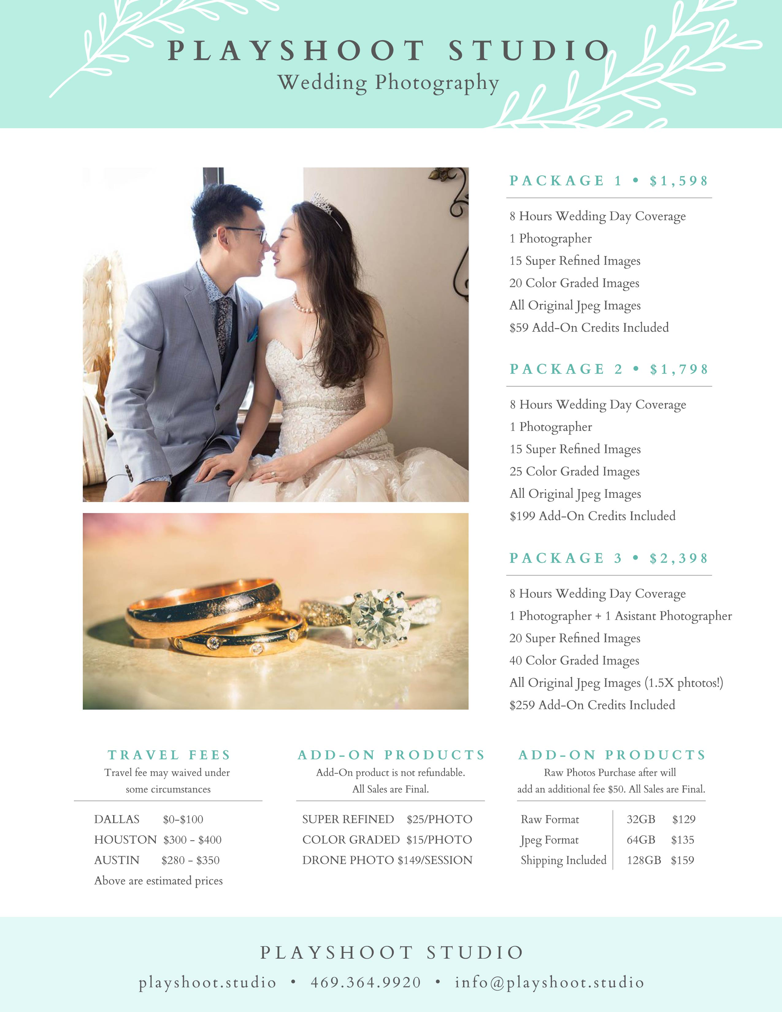 Wedding-Phtography-PlayShoot Studio Pricing 2020